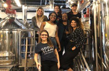 Confraria Sisterhood no dia da brassagem da cerveja Sueli